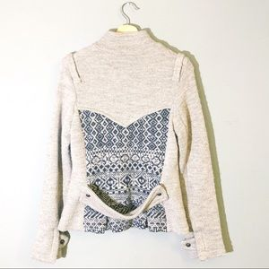 Free People | Jacket Lambswool Sweater Military M